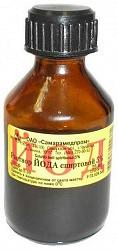 Йод 5% 25мл раствор для наружного применения спиртовой флакон
