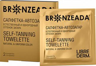 Либридерм бронзиада салфетка-автозагар 2 шт.