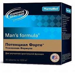 Мен'с формула потенциал форте усиленная формула таблетки 1200мг 15 шт.