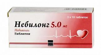 Небилонг 5мг 30 шт. таблетки