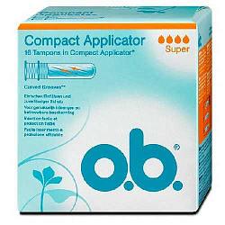 О.б. компакт аппликатор тампоны супер 16 шт.