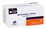 Метформин канон 1000мг 60 шт. таблетки покрытые пленочной оболочкой