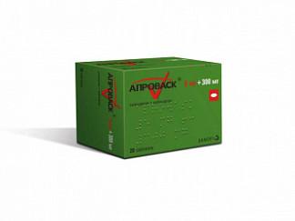 Апроваск 5мг+300мг 28 шт. таблетки покрытые пленочной оболочкой