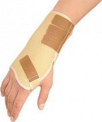 Тонус эласт повязка эластичная для фиксации лучезапястного суставав с жесткой вставкой арт.0210 №3 правая бежевая