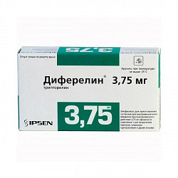 Диферелин 3,75мг 1 шт. лиофилизат для приготовления суспензии для внутримышечного введения пролонгированного действия