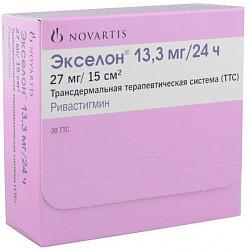 Экселон 13,3мг/24ч 30 шт. трансдермальная терапевтическая система