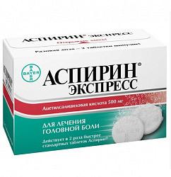 Аспирин экспресс 500мг 12 шт. таблетки шипучие