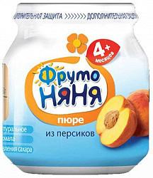 Фрутоняня пюре персик 6+ 100г