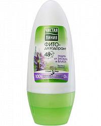 Чистая линия фитодезодорант роликовый защита от запаха и влаги 50мл