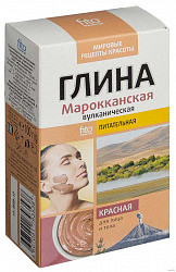Фитокосметик мировые рецепты красоты глина красная питательная марокканская вулканическая для лица и тела 100г