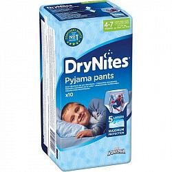 Хаггис драй найтс трусики-подгузники для мальчиков 4-7 лет 10 шт.