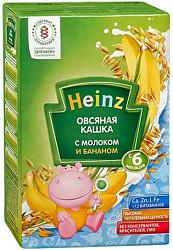 Хайнц каша овсяная молоко/банан 6+ 250г