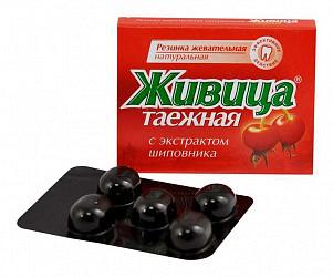 Живица таежная жевательные резинка (шиповник) 5 шт.