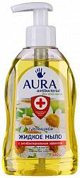 Аура мыло жидкое антибактериальное ромашка 300мл