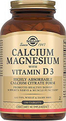 Солгар кальций-магний с витамином d3 таблетки 150 шт.