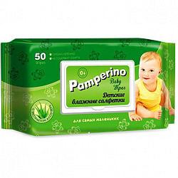 Памперино салфетки влажные детские алоэ 50 шт.