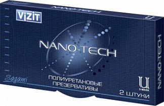Визит презервативы нано-тэк полиуретановые 2 шт.