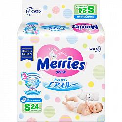 Меррис подгузники размер s 4-8кг 24 шт.