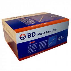 Бектон дикинсон микро-файн плюс иглы для шприц-ручки одноразовые 30g (0,3х8мм) 100 шт.
