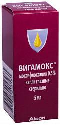 Вигамокс 0,5% 5мл капли глазные