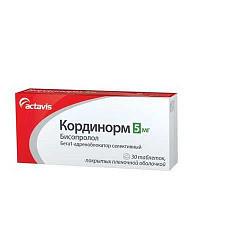 Кординорм 5мг 90 шт. таблетки покрытые пленочной оболочкой