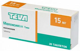 Мелоксикам-тева 15мг 20 шт. таблетки