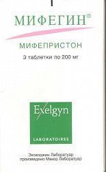 Мифегин 200мг 3 шт. таблетки