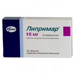 Липримар 10мг 30 шт. таблетки покрытые пленочной оболочкой pfizer ireland pharmaceuticals