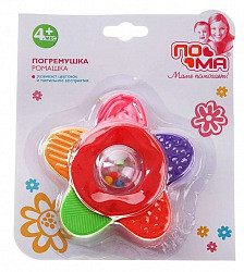 Пома (poma) погремушка-прорезыватель ромашка №1 (519)
