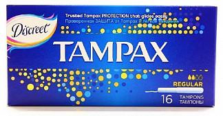 Тампакс тампоны с аппликатором регуляр 16 шт.