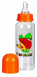 Бусинка бутылочка пластиковая с силиконовой соской арт.1102 250мл гуангжоу холдинг синок ай