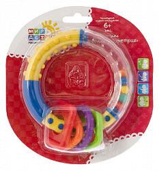 Мир детства погремушка веселая геометрия 6+ арт.21356