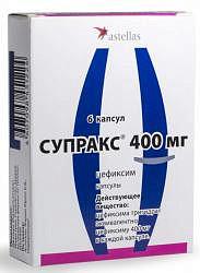 Супракс 400мг 6 шт. капсулы