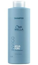 Велла баланс шампунь для волос очищающий аква пьюр 1000мл