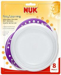 Нук тарелка для кормления пластиковая мелкая 8+ (10255049)