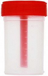 Клинса контейнер стерильный для биоматериалов универсальный с ложкой-шпателем 60мл