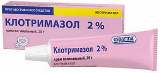 Клотримазол 2% 20г крем вагинальный