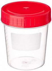 Контейнер стерильный для мочи с наклейкой 60мл пластилаб