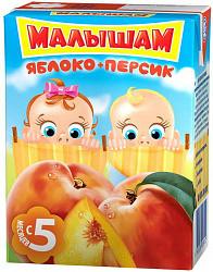 Малышам нектар яблоко-персик неосветленный 200мл