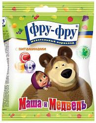 Фру-фру маша и медведь мармелад жевательный фруктовый коктейль (ассорти) фрукты-ягоды 100г