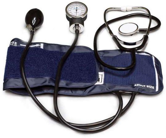 Медитек тонометр механический мт-10 со встроенным стетоскопом и люминесцентным манометром, фото №1