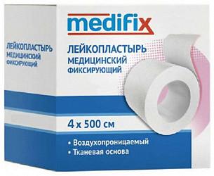 Медификс лейкопластырь фиксирующий 4х500см на тканой основе белый