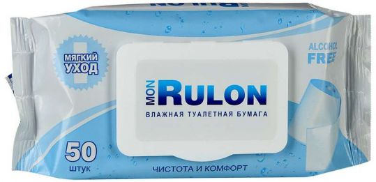 Мон рулон бумага туалетная влажная 50 шт., фото №1