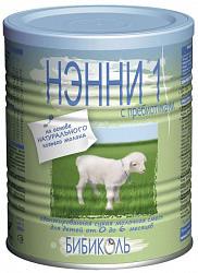 Нэнни 1 смесь на основе козьего молока с пребиотиками (0-6 месяцев) 400г