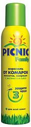 Пикник фэмили аэрозоль от комаров/москитов/мокрецов 150мл