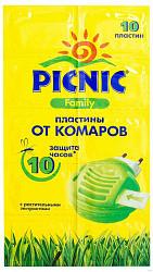 Пикник фэмили пластины от комаров 10 шт.
