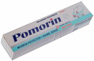 Поморин зубная паста максимальная защита + восстановление эмали без фтора 75г