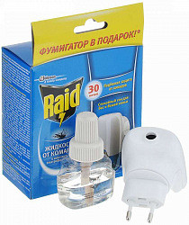 Рейд (raid) комплект электрофумигатор+жидкость 30 ночей