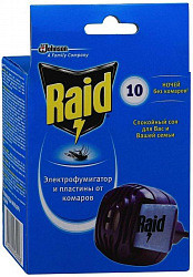 Рейд (raid) комплект электрофумигатор+пластины №10