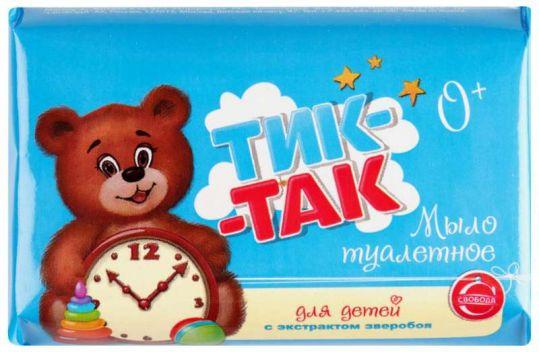 Тик-так мыло детское экстракт зверобоя для нежной/чувствительной кожи 150г, фото №1